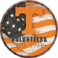"""Tennessee Volunteers 24"""" Flag Barrel Top"""