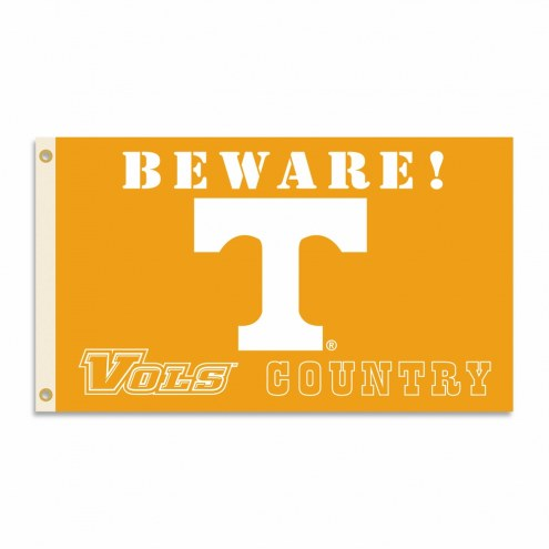 Tennessee Volunteers 3' x 5' Beware Flag