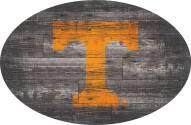 "Tennessee Volunteers 46"" Distressed Wood Oval Sign"