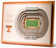 Tennessee Volunteers 5-Layer StadiumViews 3D Wall Art