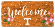 """Tennessee Volunteers 6"""" x 12"""" Floral Welcome Sign"""