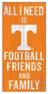 """Tennessee Volunteers 6"""" x 12"""" Friends & Family Sign"""