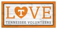 "Tennessee Volunteers 6"" x 12"" Love Sign"