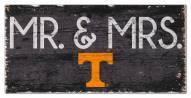 "Tennessee Volunteers 6"" x 12"" Mr. & Mrs. Sign"