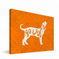 "Tennessee Volunteers 8"" x 12"" Mascot Canvas Print"