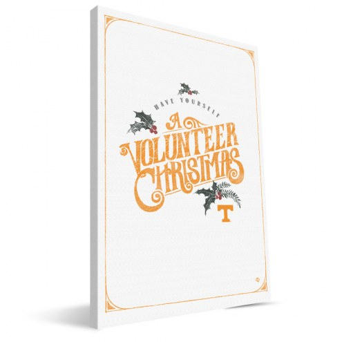 """Tennessee Volunteers 8"""" x 12"""" Merry Little Christmas Canvas Print"""