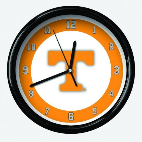 Tennessee Volunteers Black Rim Clock