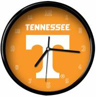 Tennessee Volunteers Black Rim Clock