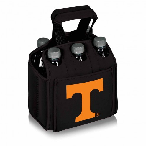 Tennessee Volunteers Black Six Pack Cooler Tote