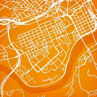 Tennessee Volunteers Campus Map Print