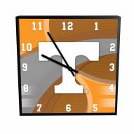 Tennessee Volunteers Carbon Fiber Square Clock