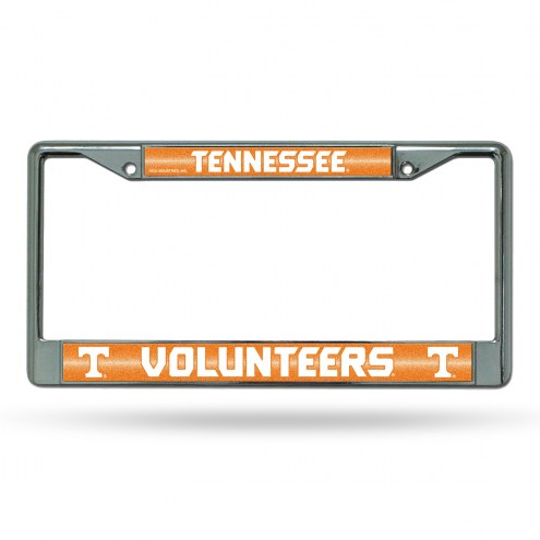 Tennessee Volunteers Chrome Glitter License Plate Frame