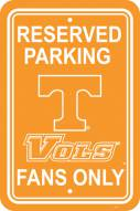 Tennessee Volunteers College Parking Sign