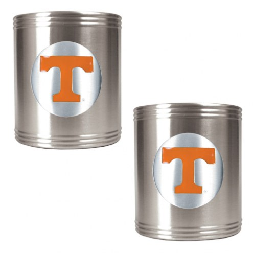 Tennessee Volunteers College Stainless Steel Can Holder 2-Piece Set