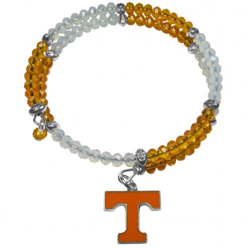 Tennessee Volunteers Crystal Memory Wire Bracelet