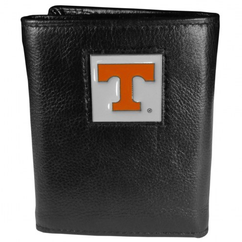 Tennessee Volunteers Deluxe Leather Tri-fold Wallet in Gift Box