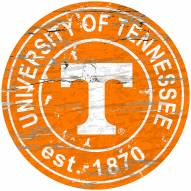 Tennessee Volunteers Distressed Round Sign
