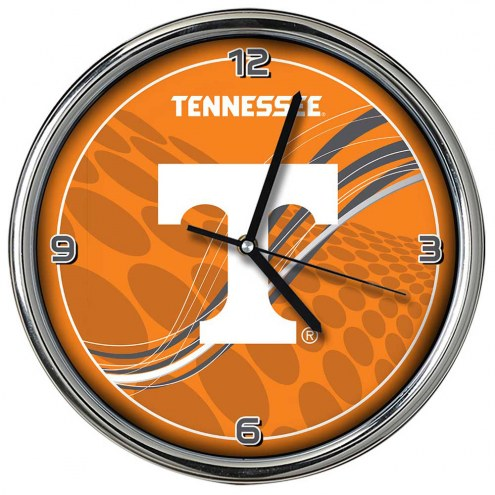 Tennessee Volunteers Dynamic Chrome Clock
