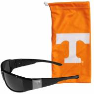 Tennessee Volunteers Etched Chrome Wrap Sunglasses & Bag