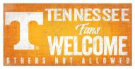 Tennessee Volunteers Fans Welcome Sign
