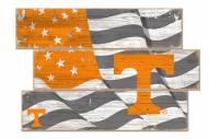 Tennessee Volunteers Flag 3 Plank Sign