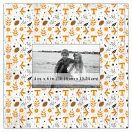 """Tennessee Volunteers Floral Pattern 10"""" x 10"""" Picture Frame"""