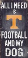 Tennessee Volunteers Football & Dog Wood Sign