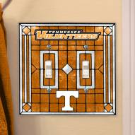 Tennessee Volunteers Glass Double Switch Plate Cover