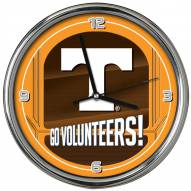 Tennessee Volunteers Go Team Chrome Clock