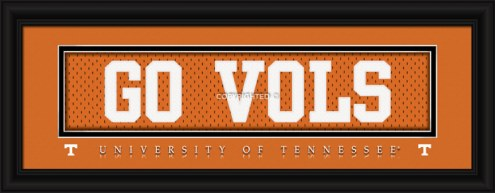 """Tennessee Volunteers """"Go Vols"""" Stitched Jersey Framed Print"""
