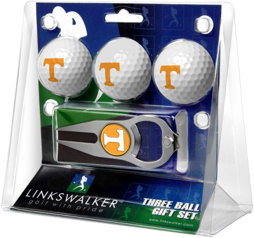 Tennessee Volunteers Golf Ball Gift Pack with Hat Trick Divot Tool