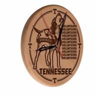 Tennessee Volunteers Laser Engraved Wood Clock