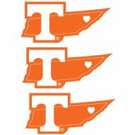 Tennessee Volunteers Home State Decal - 3 Pack