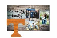 Tennessee Volunteers I Love My Family Clip Frame