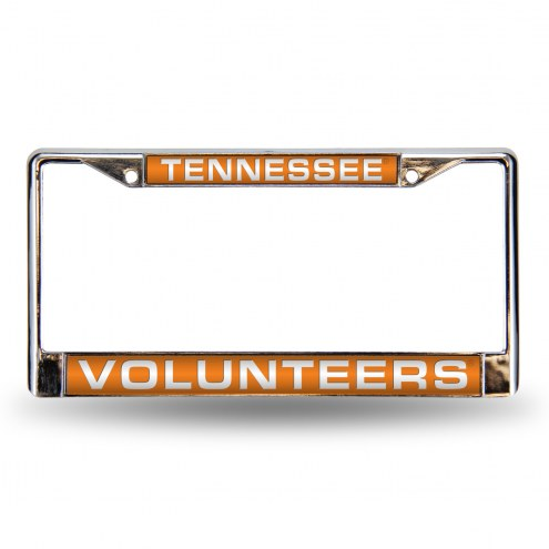 Tennessee Volunteers Laser Chrome License Plate Frame
