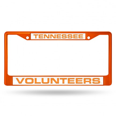 Tennessee Volunteers Laser Colored Chrome License Plate Frame