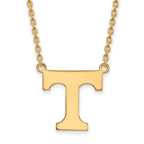 Tennessee Volunteers NCAA Sterling Silver Gold Plated Large Pendant Necklace