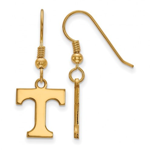 Tennessee Volunteers NCAA Sterling Silver Gold Plated Small Dangle Earrings