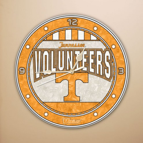 Tennessee Volunteers NCAA Stained Glass Wall Clock