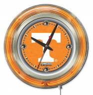 Tennessee Volunteers Neon Clock