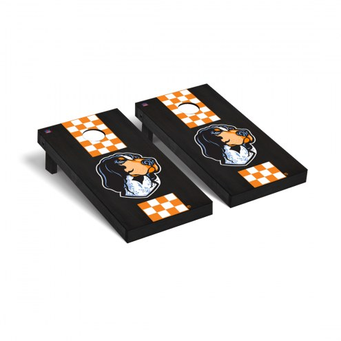 Tennessee Volunteers Onyx Stained Stripe Cornhole Game Set