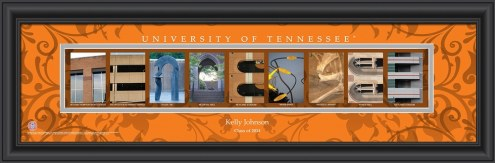 Tennessee Volunteers Personalized Campus Letter Art