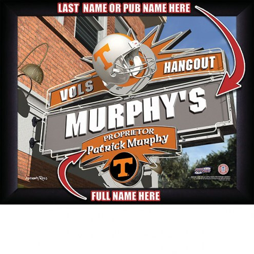 Tennessee Volunteers 11 x 14 Personalized Framed Sports Pub Print