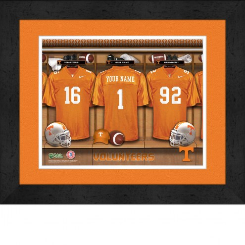 Tennessee Volunteers Personalized Locker Room 13 x 16 Framed Photograph