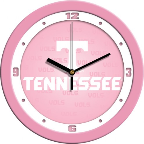 Tennessee Volunteers Pink Wall Clock