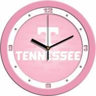 Tennessee Volunteers Pink Wall Clock
