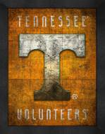Tennessee Volunteers Retro Logo Map Framed Print