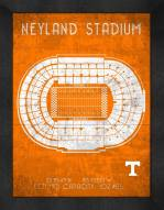 Tennessee Volunteers Retro Stadium Chart Framed Print