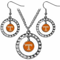 Tennessee Volunteers Rhinestone Hoop Jewelry Set