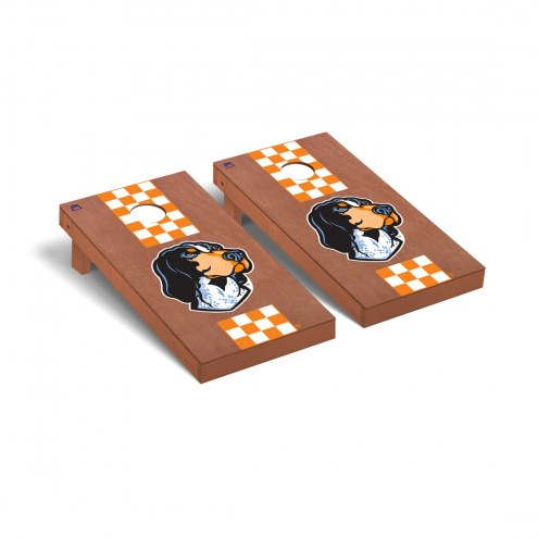 Tennessee Volunteers Rosewood Stained Stripe Cornhole Game Set